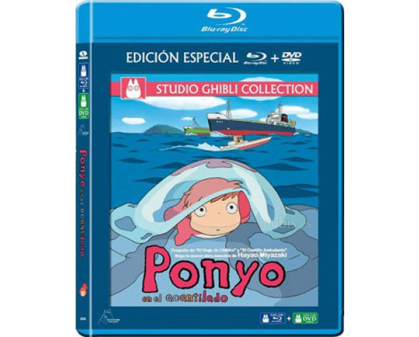 BLURAY PONYO EN EL ACANTILADO (COMBO BLURAY + DVD)