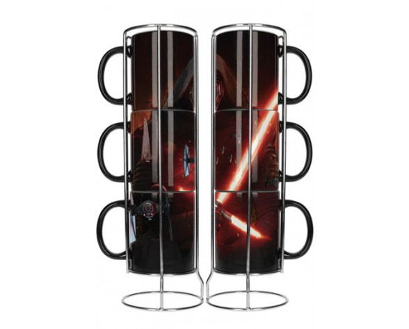 PACK 3 TAZAS STAR WARS EPISODE VII KYLO CON SABLE LASER