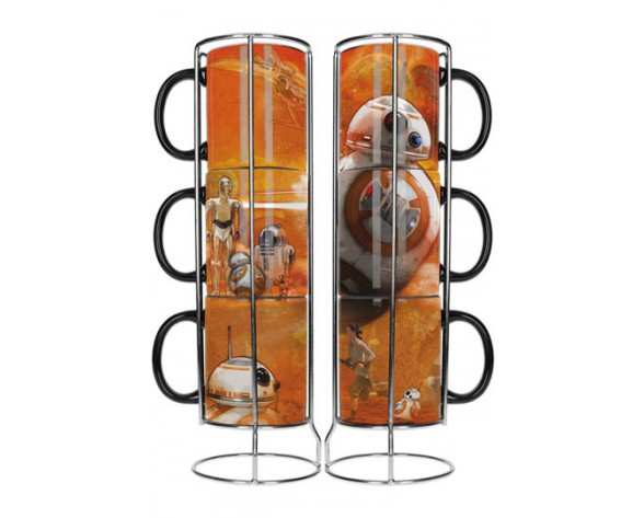 PACK 3 TAZAS STAR WARS EPISODE VII BB-8