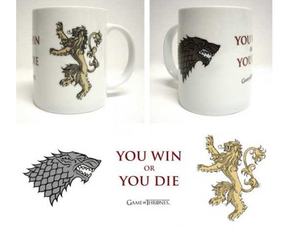 TAZA YOU WIN OR YOU DIE (JUEGO DE TRONOS)