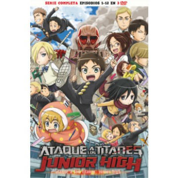DVD ATAQUE A LOS TITANES: JUNIOR HIGH (Serie Completa)