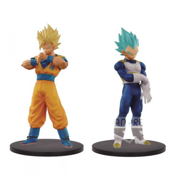 PACK FIGURA SON GOKU SUPER SAIYAN 2 - VEGETA SUPER SAIYAN GOD (DRAGON BALL SUPER) - DXF SUPER WARRIORS VOL.5