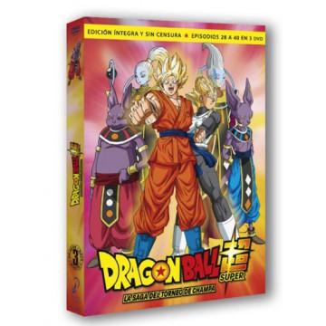 DVD DRAGON BALL SUPER BOX 03: LA SAGA DEL TORNEO DE CHAMPA  (EP. 28 A 40)
