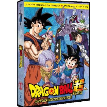 DVD DRAGON BALL SUPER BOX 01: LA SAGA DE LA BATALLA DE LOS DIOSES (EP. 1 A 14 - EDICIÓN INTEGRA Y SIN CENSURA)