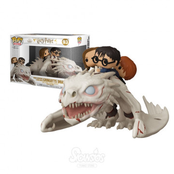 FIGURA DRAGON UKRANIAN IRONBELLY CON HARRY, RON & HERMIONE (HARRY POTTER) - FUNKO POP