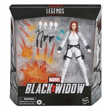 FIGURA VIUDA NEGRA CON TRAJE BLANCO (MARVEL LEGENDS)