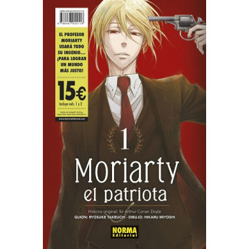 PACK MORIARTY EL PATRIOTA 01 + 02